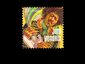 Jimi hendrix Hero Stamp - forever stamps