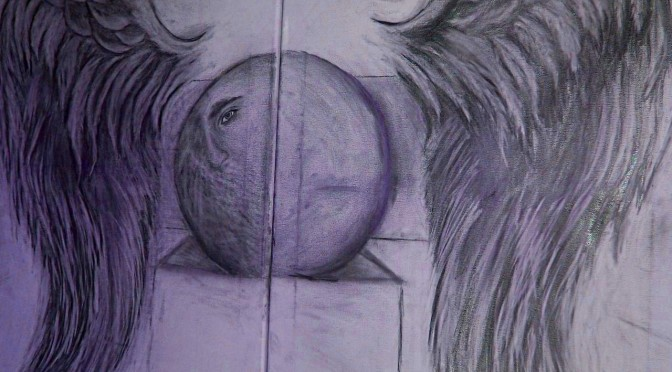 Graphite on Two 18 x 24 Inch Canvases – SOLD –