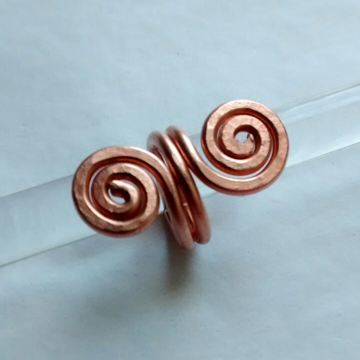 copper spiral ring | Happy Hollow Glass