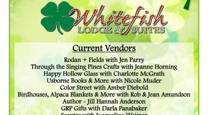 Whitefish Lodge & Suites – St. Patrick's Day Vendor Fair and Parade – Crosslake, MN